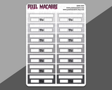 Load image into Gallery viewer, Work / Uni Schedule EC Quarter Box Stickers