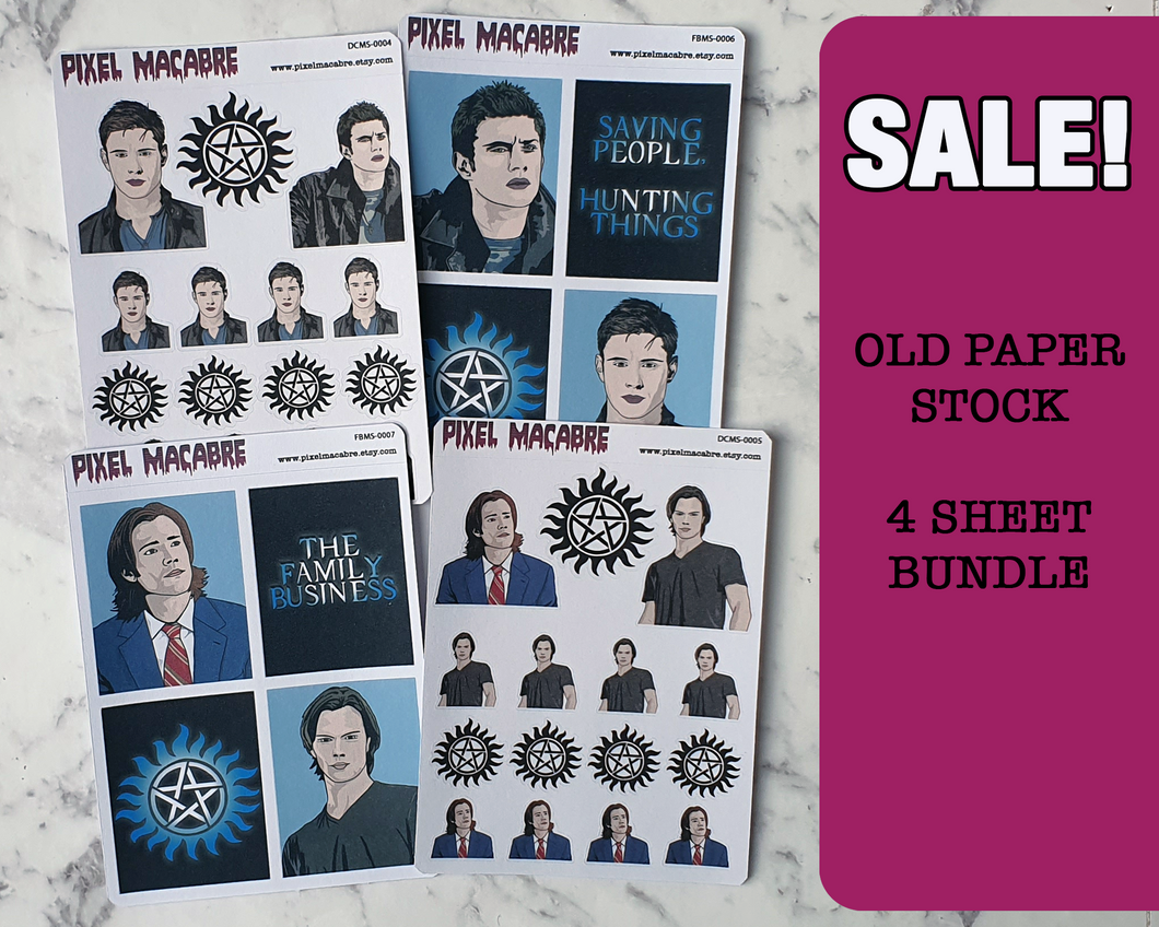 Supernatural Old Stock Sticker Bundle - 4 Sheets