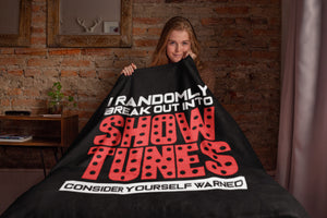 Show Tunes Throw Blanket