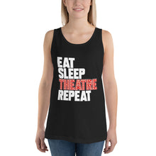 Load image into Gallery viewer, Eat Sleep Theatre Repeat Unisex Tank Top
