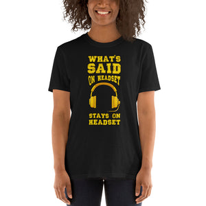Stage Manager Headset Pun Unisex T-Shirt