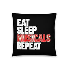 Load image into Gallery viewer, Eat Sleep Musicals Repeat Basic Pillow