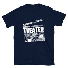 Load image into Gallery viewer, Theatre Clapper Word Art Unisex T-Shirt