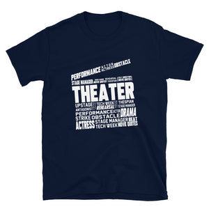 Theatre Clapper Word Art Unisex T-Shirt