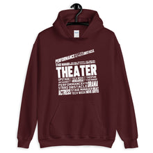 Load image into Gallery viewer, Theatre Clapper Word Art Unisex Hoodie