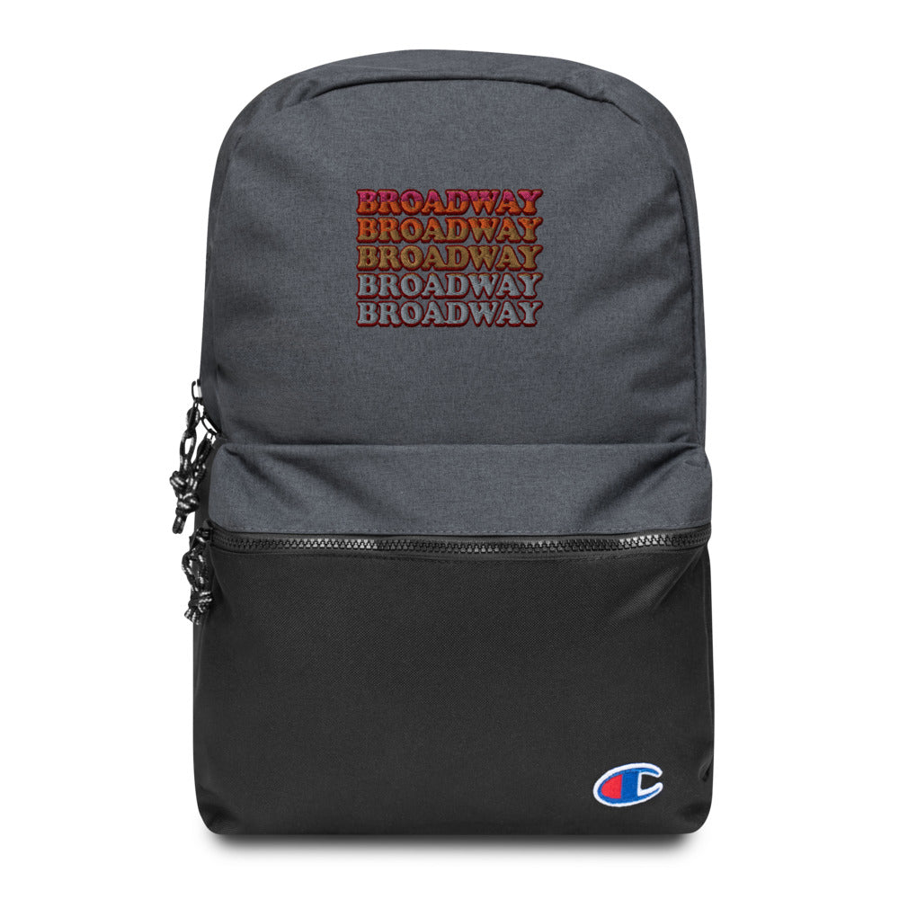 Broadway Retro Vintage Embroidered Champion Backpack