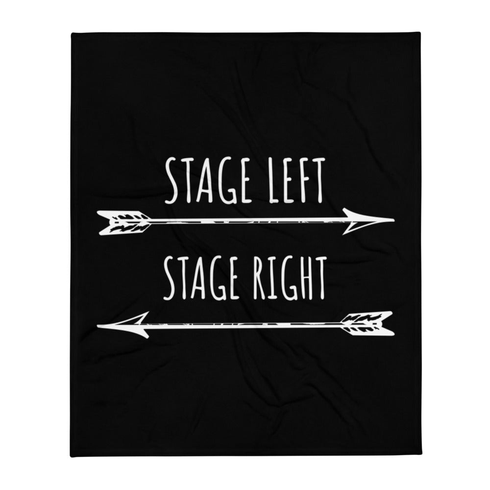 Stage Left Stage Right Throw Blanket