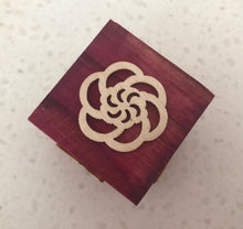 Load image into Gallery viewer, Flower & Butterfly Themed Wooden Block Stamp
