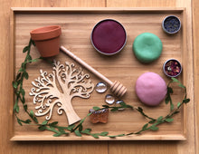 Load image into Gallery viewer, Garden Party Playdough Set  - Rose pink, Raspberry Pink and Duck Egg Green