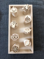 Halloween Cork Stamp Set - 8 Stamps