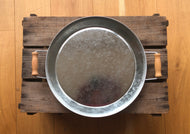 Metal Play Tray with Wooden Handles