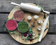 Natural Playdough Set - Red, Brown & Green