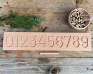 Wooden Number Board