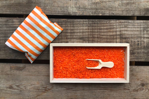 Coloured Scented Rice Tray Set with Wooden Scoop