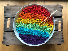 Load image into Gallery viewer, Single Colour Dyed Chickpeas - Rainbow
