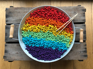 Single Colour Dyed Chickpeas - Rainbow