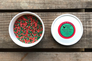 Green and Red Christmas Sensory Dough & Rice Set