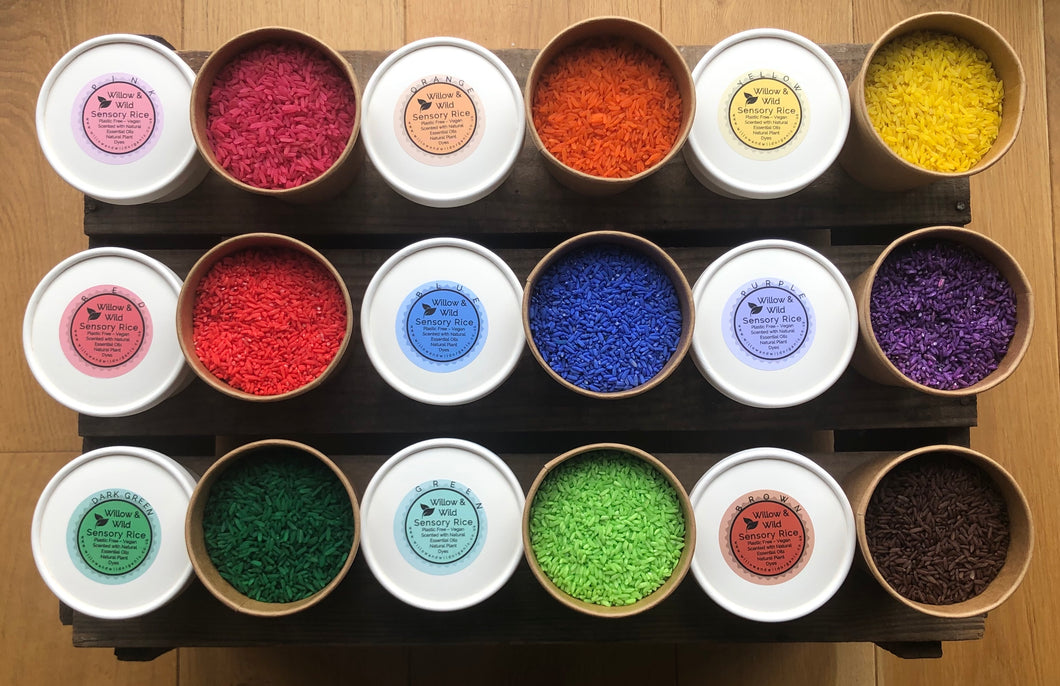 Scented Sensory Coloured Rice