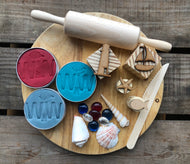 Sailing Playdough Set - Sea Blue, Sky Blue & Chilli Red