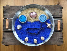 Load image into Gallery viewer, Sea Themed Senory Rice and Natural Playdough Playtray Set