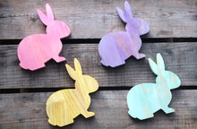 Load image into Gallery viewer, Stained Wooden Rabbits