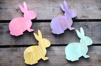 Stained Wooden Rabbits