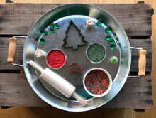 Load image into Gallery viewer, Green and Red Christmas Sensory Dough & Rice Set