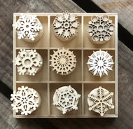 Chirstmas Snowflake Cork Stamp Set - 9 Stamps