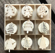 Chirstmas Tree Cork Stamp Set - 9 Stamps