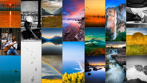 Facebook, Google Plus, Youtube Cover Photo Collage Template
