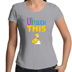 Scoop Neck T-Shirt - U can't touch this - Homer – Women's