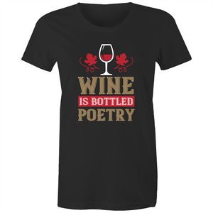 Maple Tee – Wine is bottled poetry - Women's