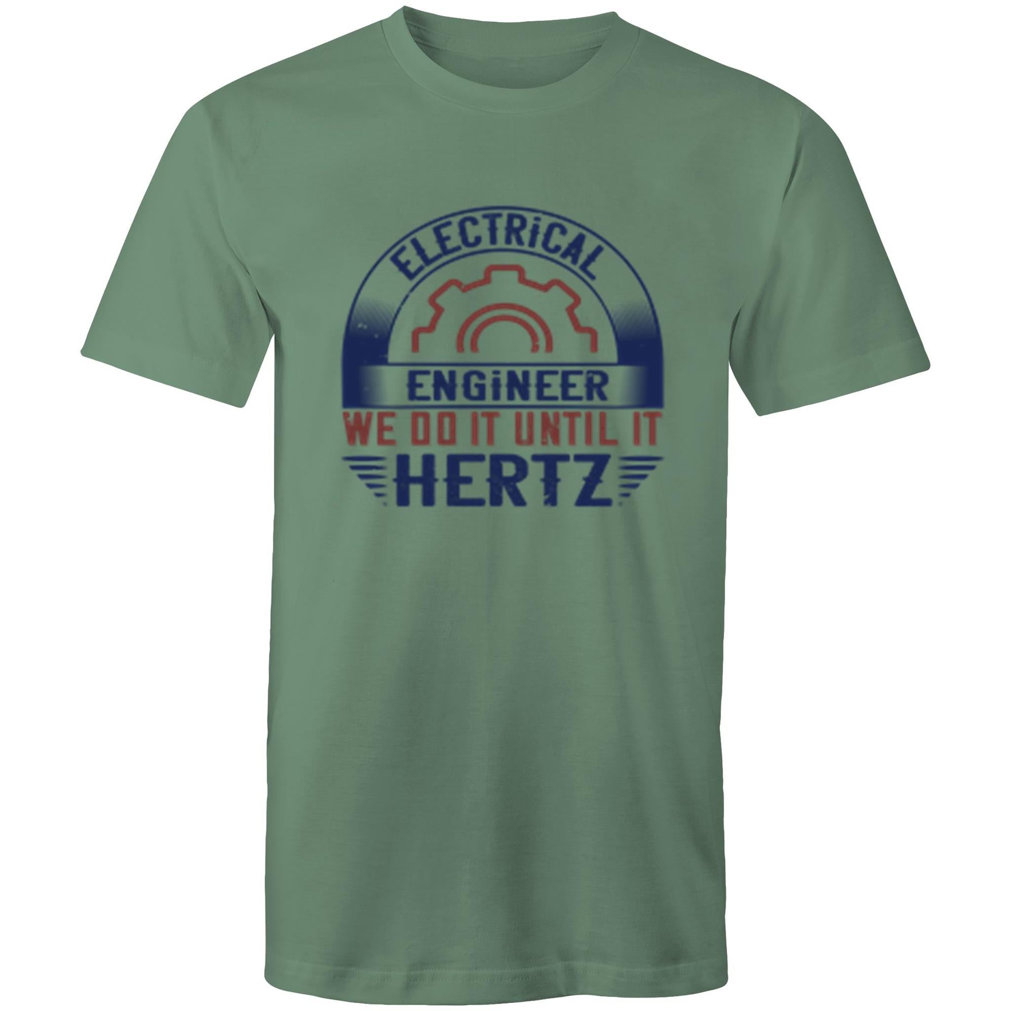Colour Staple T-Shirt – Electrical Engineer we do it until it hertz - Mens