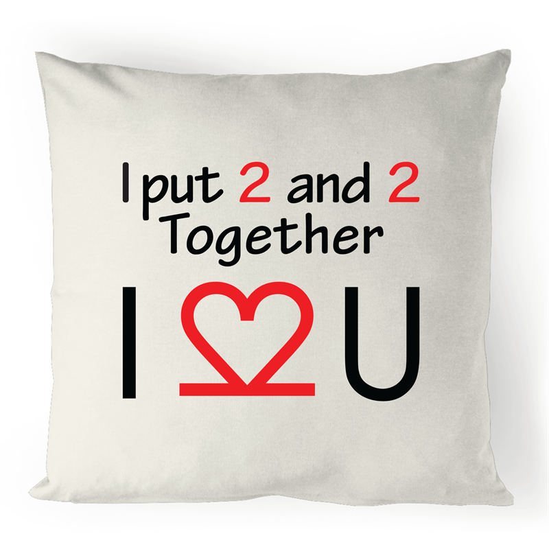 Cushion Cover - I Love You - 100% Linen