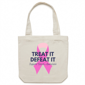 Canvas Tote Bag - Treat it defeat it – Carrie