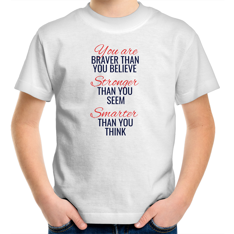 Sportage Surf - You are braver than you believe - Kids Youth T-Shirt