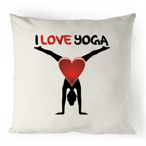 Cushion Cover - I Love Yoga - 100% Linen