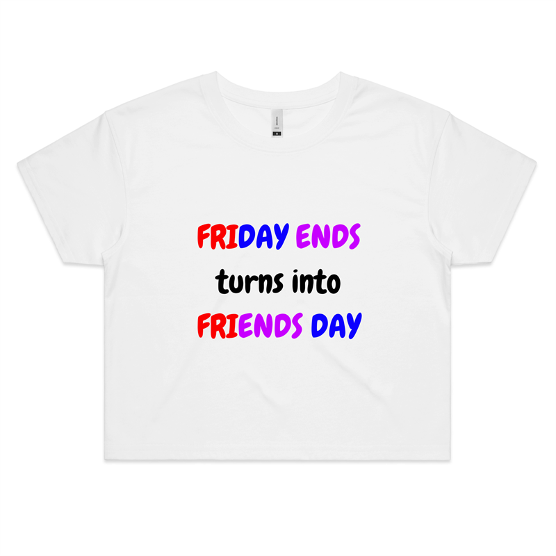 Crop Tee - Friends Day - Women's