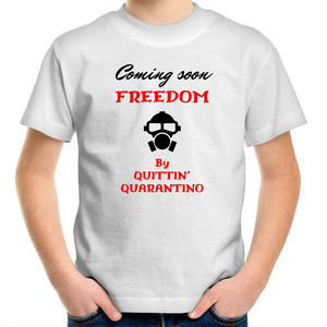 Sportage Surf - Coming soon Freedom by Quittin Quarantino - Black Text - Kids Youth T-Shirt