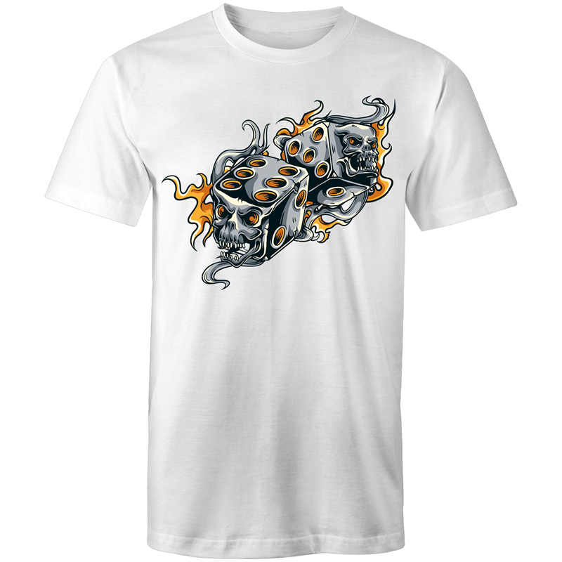 Colour Staple T-Shirt – Gambling design 5 - Mens