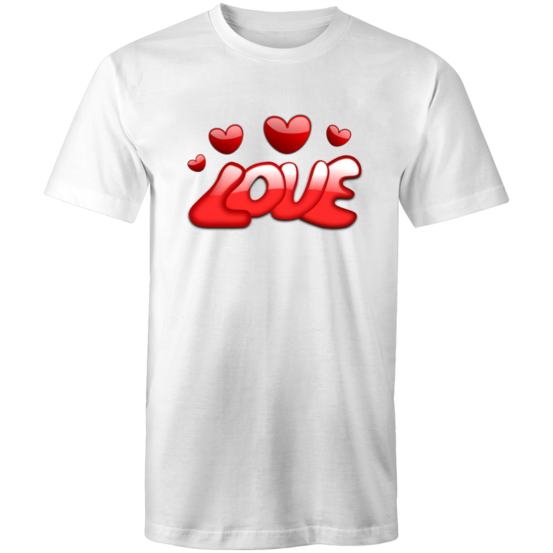 Colour Staple T-Shirt – Love - Mens