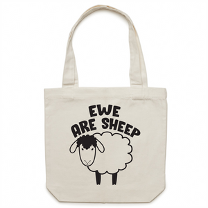 Canvas Tote Bag - Ewe are sheep - Carrie
