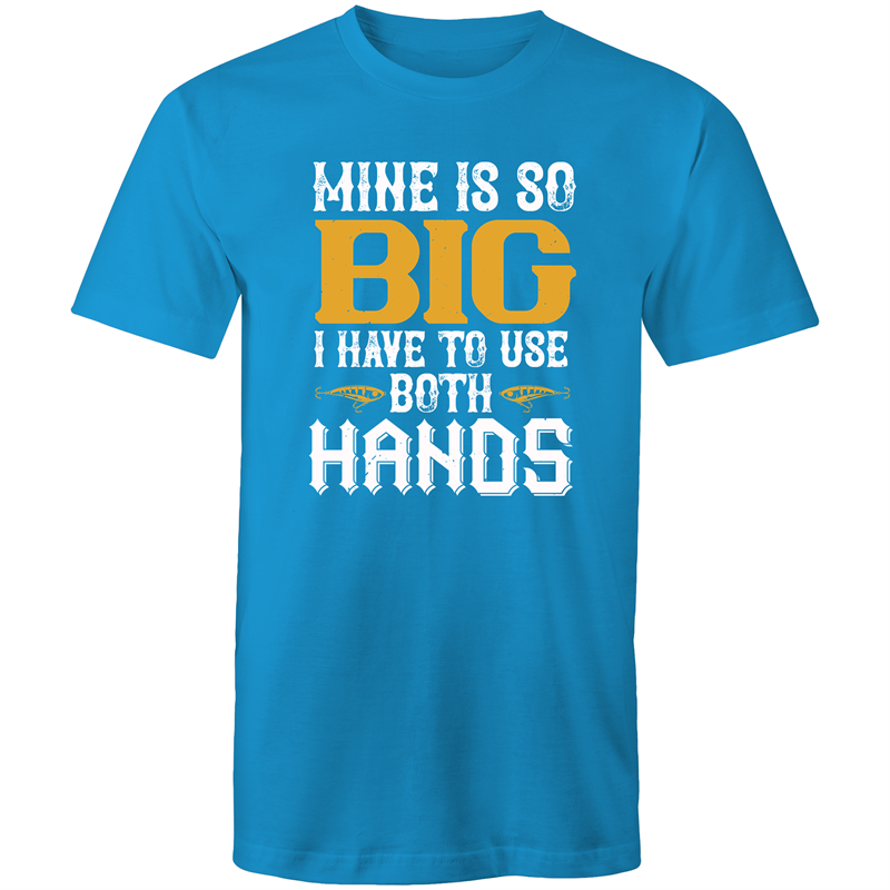 Colour Staple T-Shirt – Mine is so big I had to use both hands - white text - Mens