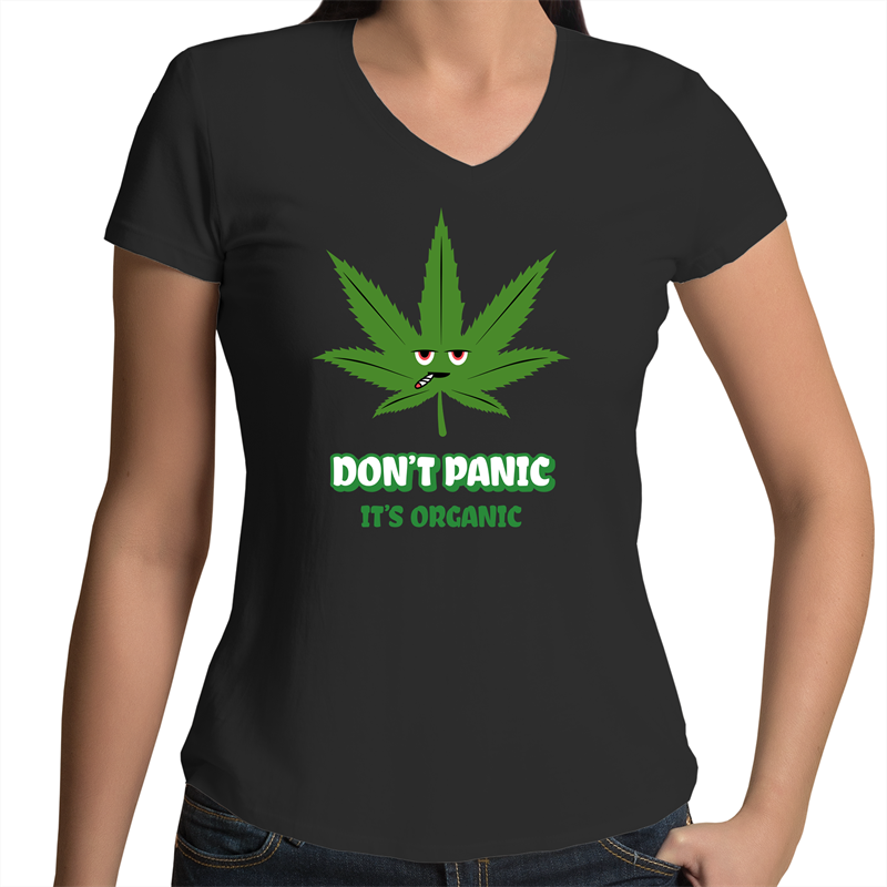 Bevel V-Neck T-Shirt - Don't panic it's organic – Women's