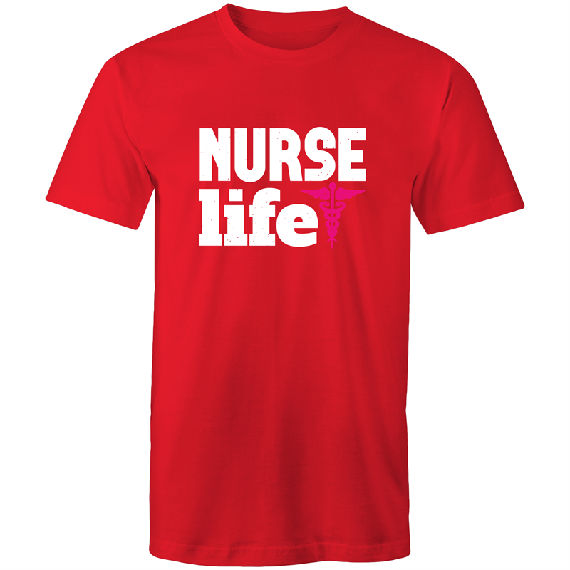 Colour Staple T-Shirt – Nurse Life - White text - Mens