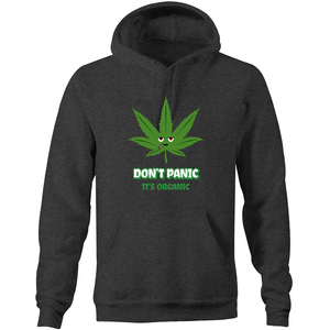 Pocket Hoodie Sweatshirt - Don;t panic it's organic – Unisex