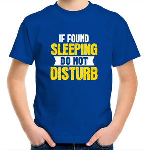Sportage Surf - If found sleeping do not disturb - White Text - Kids Youth T-Shirt