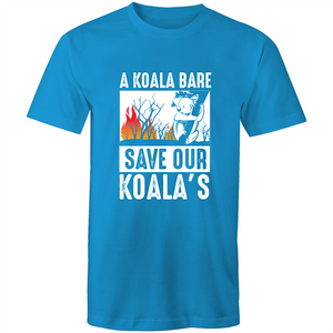 Colour Staple T-Shirt – A Koala Bare - White text - Mens