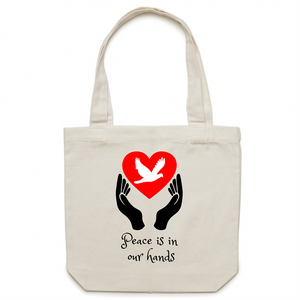 Canvas Tote Bag - Peace is in our hands – Carrie