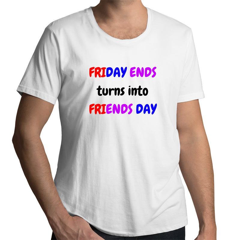 Scoop Neck T-Shirt - Friends Day - Mens